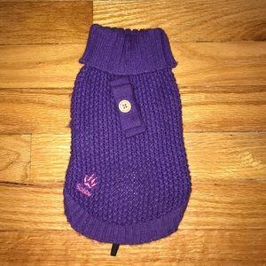 Small Purple knit Dog Sweater